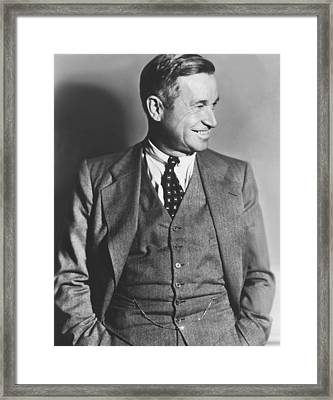 Portrait Of Will Rogers Framed Print