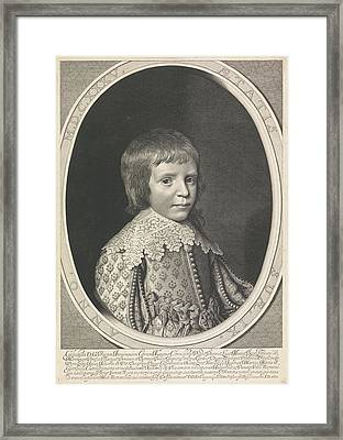 Portrait Of Willem II In An Oval Framed Print by Willem Jacobsz. Delff