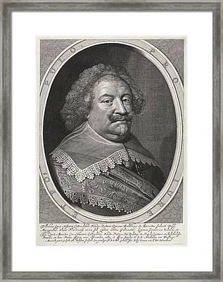 Portrait Of William, Count Of Nassau Framed Print by Willem Jacobsz. Delff And Abraham Van Waesberge I