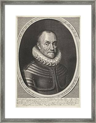 Portrait Of William I, Prince Of Orange Framed Print by Willem Jacobsz. Delff
