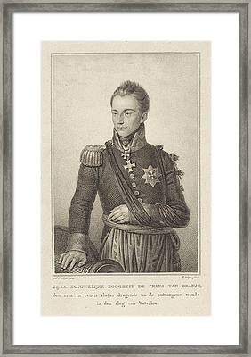 Portrait Of William II, King Of The Netherlands Framed Print