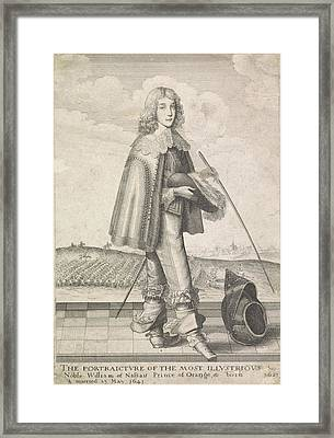Portrait Of William II, Prince Of Orange Framed Print by Anonymous And W. Richardson