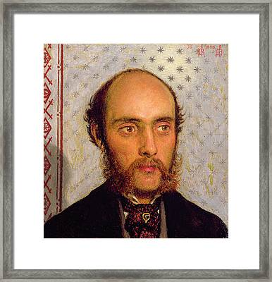Portrait Of William Michael Rossetti 1829-1919 By Lamplight, 1856 Panel Framed Print