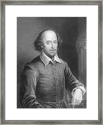 Portrait Of William Shakespeare Framed Print by English School