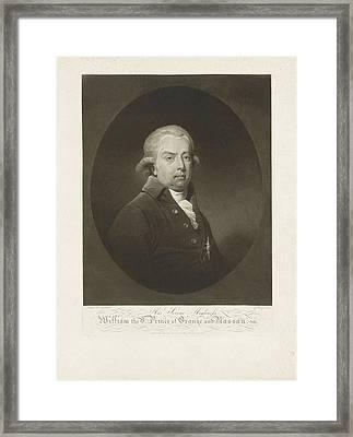 Portrait Of William V, Prince Of Orange-nassau Framed Print