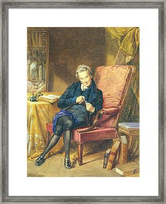 Portrait Of William Wilberforce 1759-1833 1833 Wc On Paper Framed Print