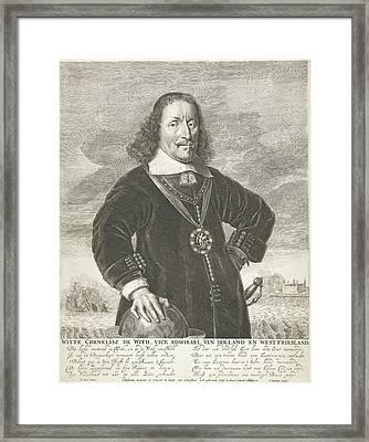 Portrait Of Witte Cornelisz De With, Abraham Bloteling Framed Print