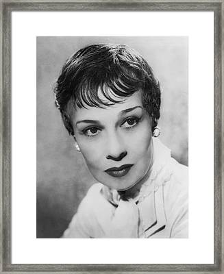 Portrait Of Writer Anita Loos Framed Print by Underwood Archives