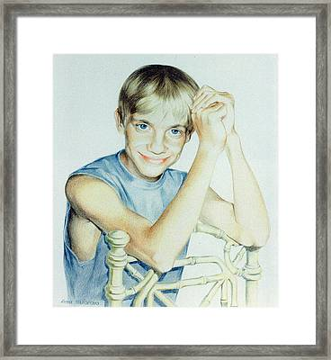 Portrait Of Yury Framed Print
