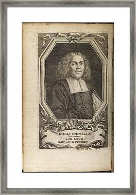 Portrait Plate Of Thomas Cornelius Framed Print