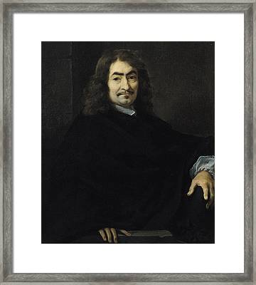 Portrait Presumed To Be Rene Descartes Framed Print by Sebastien Bourdon