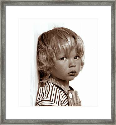 Portrait Young Boy   Framed Print