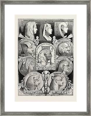 Portraits From Likenesses Of The Time Of The Pharaohs Framed Print by Litz Collection