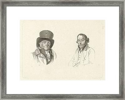 Portraits Of John Peter Of Horstok And Warner Horstink Framed Print by Artokoloro