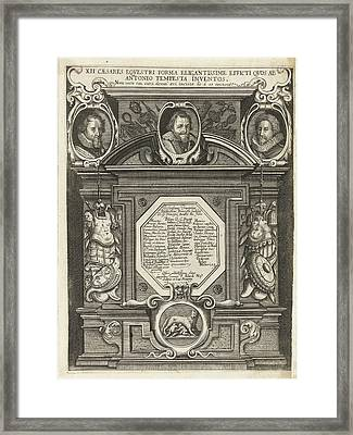 Portraits Of Maurits, Filips Willem And Frederik Hendrik Framed Print