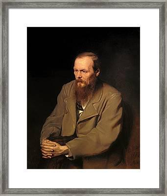 Portrat Of Fedor Dostoyevski Framed Print