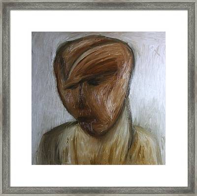 Portret Framed Print by Stefan Hermannsson