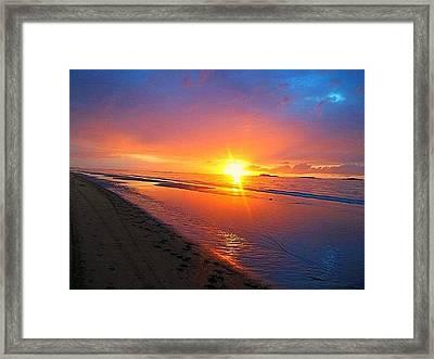 Portrush Sunset Framed Print by Tara Potts