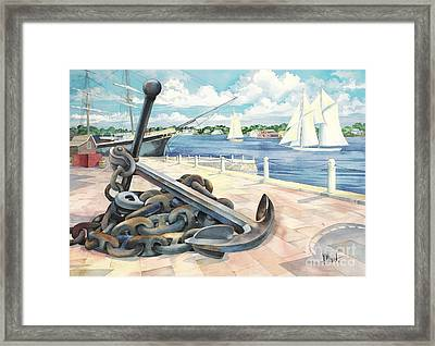 Portside Anchor Framed Print by Paul Brent