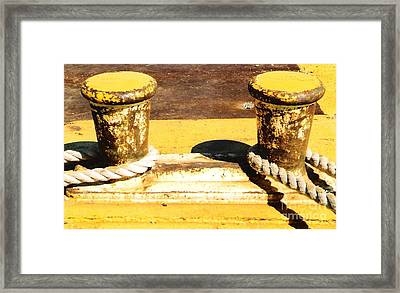 Framed Print featuring the photograph Portside  Yellow by Michael Hoard