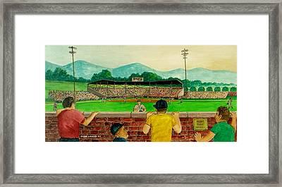 Portsmouth Athletics Vs Muncie Reds 1948 Framed Print