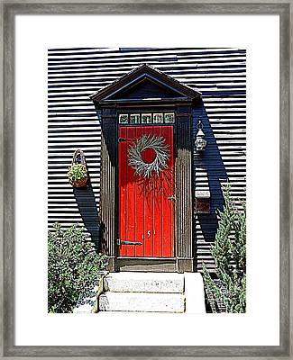 Portsmouth Door 2 Framed Print by Kevin Fortier