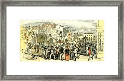 Portsmouth Fair U.k Framed Print by English School