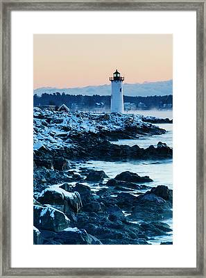 Portsmouth Harbor Lighthouse In New Framed Print by Jerry and Marcy Monkman