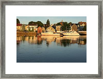 Portsmouth Harbor Nh Framed Print by Gail Maloney