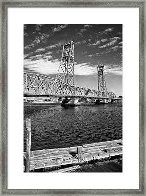 Portsmouth Liftbridge Framed Print by Joseph Smith