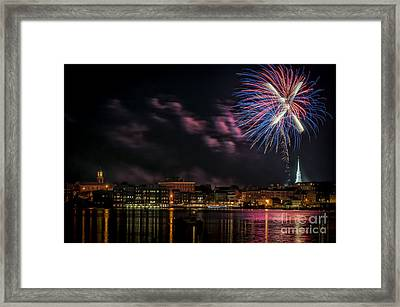 Portsmouth Nh Fireworks 2013 Framed Print by Scott Thorp