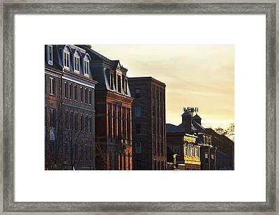 Portsmouth Rooftops Framed Print