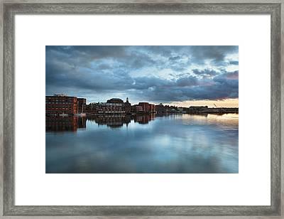Portsmouth Skyline Sunset Framed Print