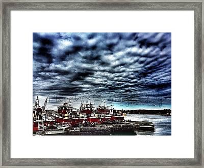 Portsmouth Tugboats Framed Print by John Adams