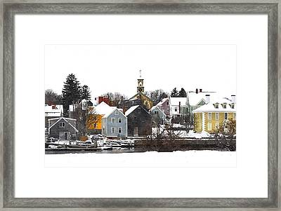 Portsmouth Waterfront Pwwc Framed Print