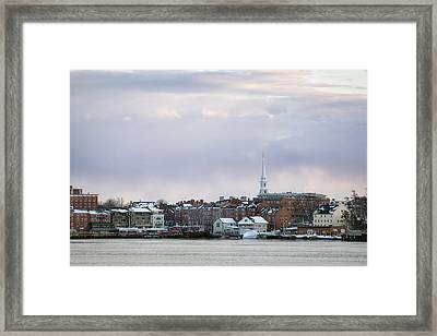 Portsmouth's Winter Skyline Framed Print by Eric Gendron
