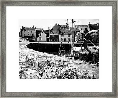 Portsoy Harbour 1 Framed Print by Malcolm Suttle