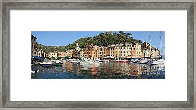 Framed Print featuring the photograph Porttofino - Italy by Antonio Scarpi