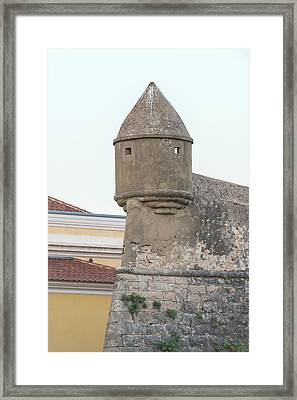 Portugal, Cascais, Fortress Turret Framed Print