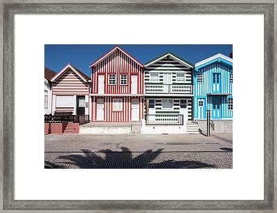 Portugal, Costa Nova, Seaside Framed Print by Emily Wilson