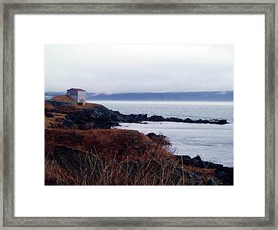Portugal Cove Framed Print by Zinvolle Art