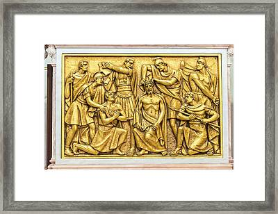 Portugal, Fatima, Stations Of The Cross Framed Print by Jim Engelbrecht