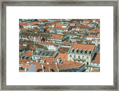 Portugal, Lisbon, Baixa Rooftops Framed Print by Rob Tilley