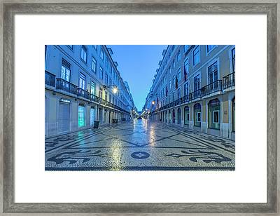 Portugal, Lisbon, Baixa, Rua Augusta Framed Print