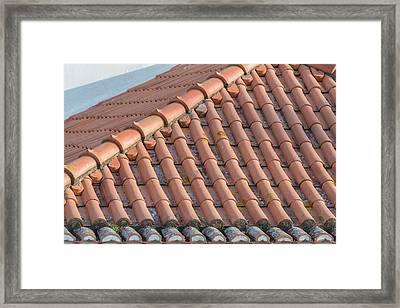 Portugal, Lisbon, Red Tile Roof Framed Print by Jim Engelbrecht