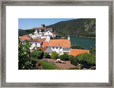 Portugal, Tomar, Castelo De Bode Dam Framed Print by Emily Wilson
