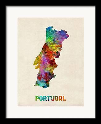 Portuguese Digital Art Framed Prints