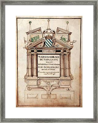 Portuguese Atlas Title Page Framed Print by Library Of Congress, Geography And Map Division