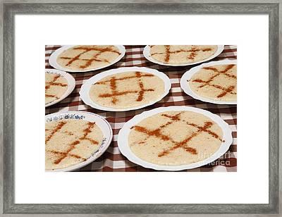 Portuguese Food Framed Print