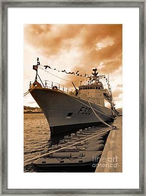 Portuguese Navy Frigate F330 Framed Print by Gaspar Avila